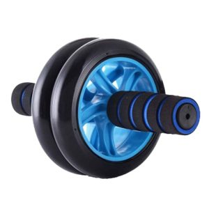 Double Ab Wheel Roller Exercise - Black/Blue