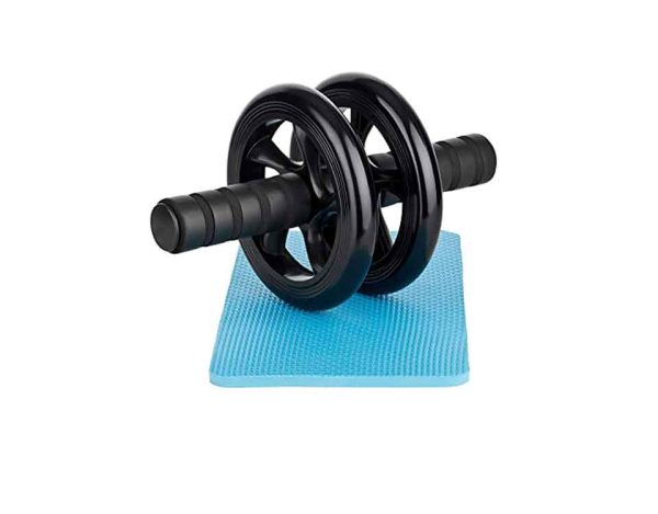 Ab Wheel Roller With Knee Mat - Black