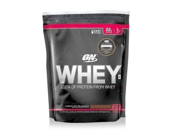 Optimum Nutrition 100% Whey Protein Powder – (Chocolate Milkshake, 1.85 LB)