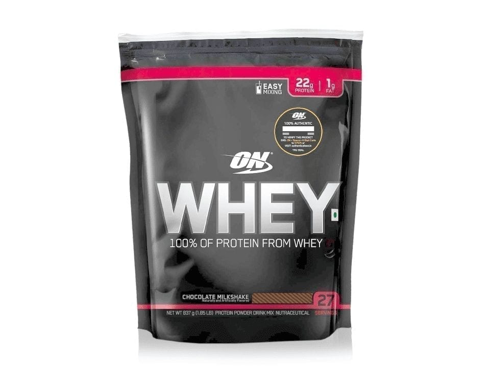 Optimum Nutrition 100% Whey Protein Powder – (Chocolate Milkshake, 1.85 LB)