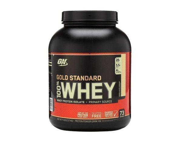 Optimum Nutrition Gold Standard 100% Whey Protein Isolate Powder (Vanilla Ice Cream, 5 LB)