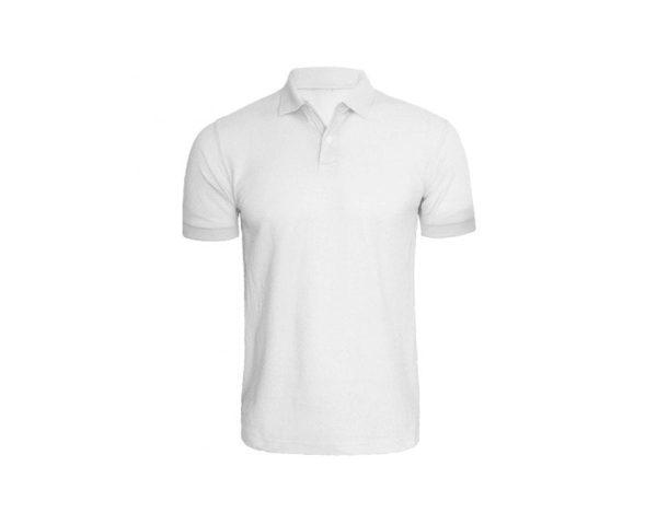 Polo T-Shirt 100% Cotton - White