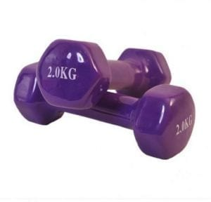 Weight Dumbbell Set Vinyl- 2 x 2 Kg Color