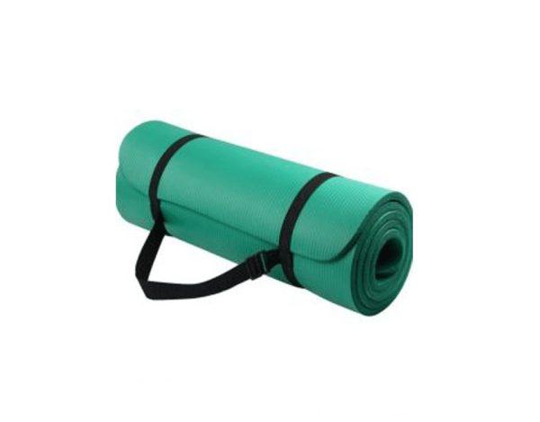 سجادة التمارين الرياضية واليوجا مع حقيبة للحمل - اخضر - 10 مم