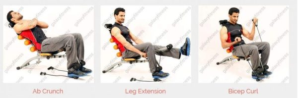 Six Pack Care - Ab Rocket - Abdominal exercises Machine to tighten the muscles of the abdomen and buttocks - the maximum weight for the user is 180 kg