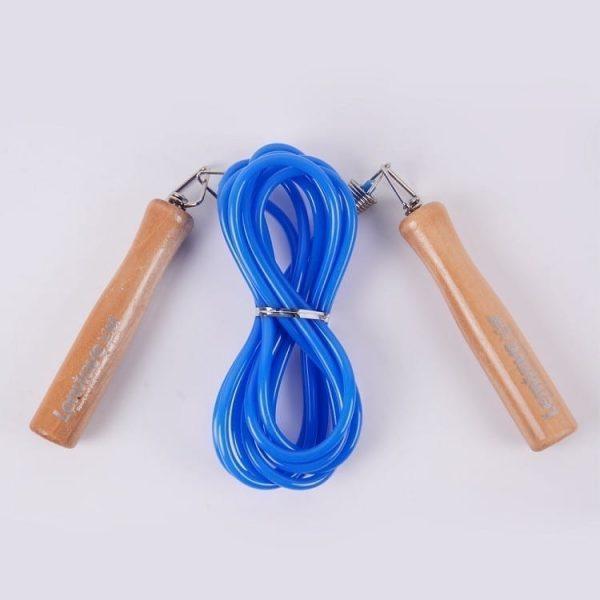 حبل القفز بمقبض خشبي