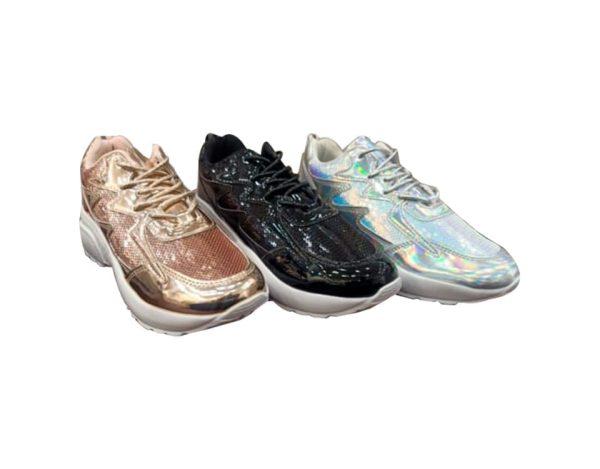 Shiny Leather Women Sport Shoes - Colors
