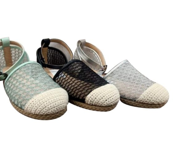 Women's Summer Sandal Made of wood Crochet and Lace - Colors