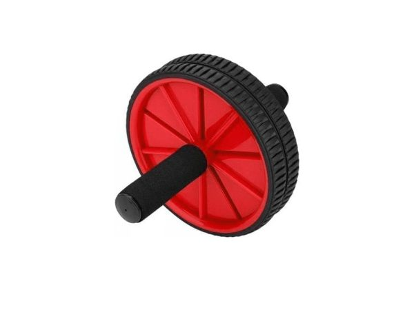 Ab Wheel Double Fitness Abs Roller With Knee Mat- Red