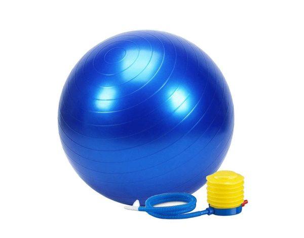 كرة الجيم للتوازن و التمارين الرياضية و اليوجا مع منفاخ الهواء - 65 سم