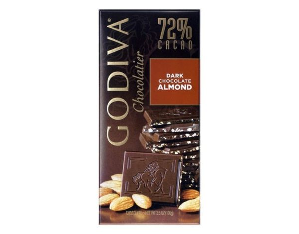 شوكولاتة جوديفيا الداكنة باللوز - 100 جم