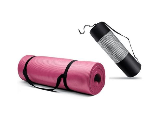 Thick Yoga Exercise Mat - Pink - 10 MM | Champions Store Egypt