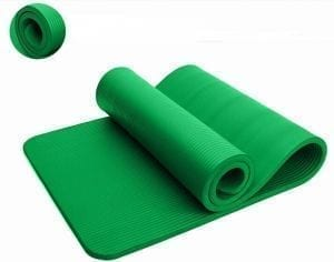 Gym & Yoga Exercise Mat With Carry Bag- Green - 10MM