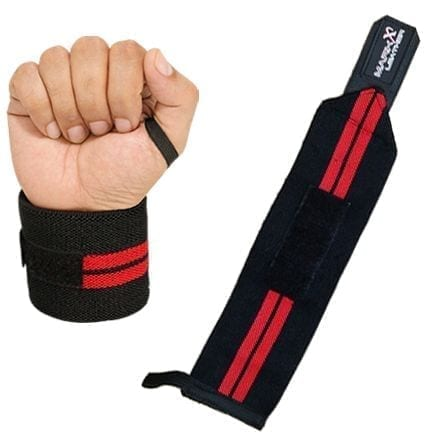 Weight Lifting Wrist Wraps for Wrist Support - Black Red