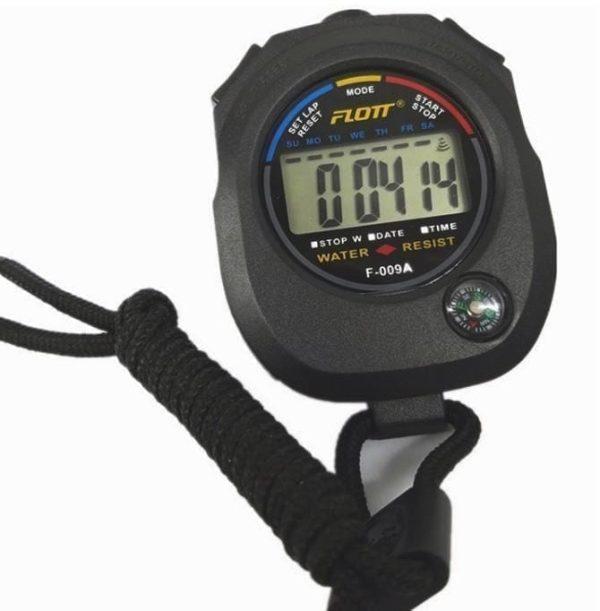 ساعة توقف رياضية رقمية محمولة