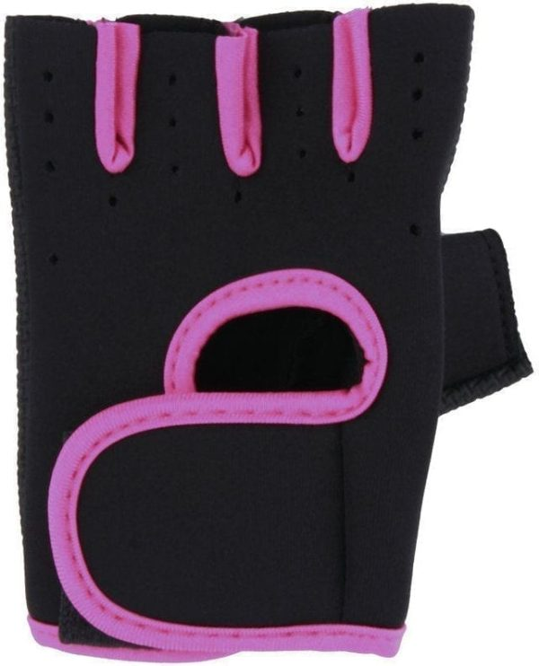 Sports Half Fingerless Gloves For Gym With Wide Wrist Wraps