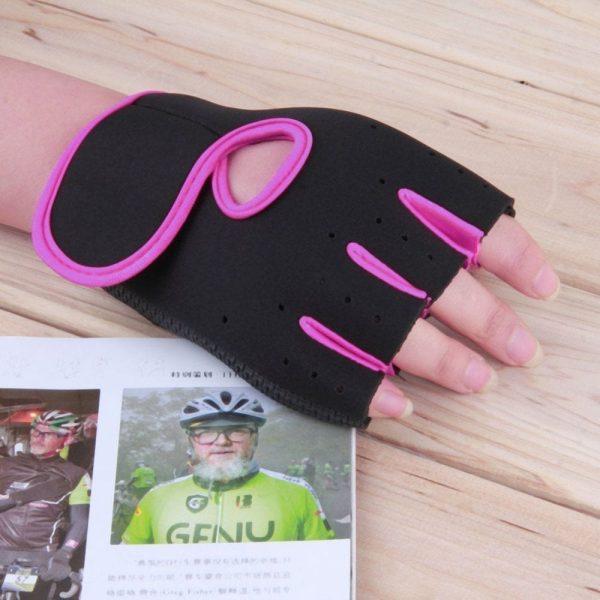 قفازات مع أغطية معصم نصف اصبع للصالات الرياضية والجيم ورفع الاثقال والتدريبات