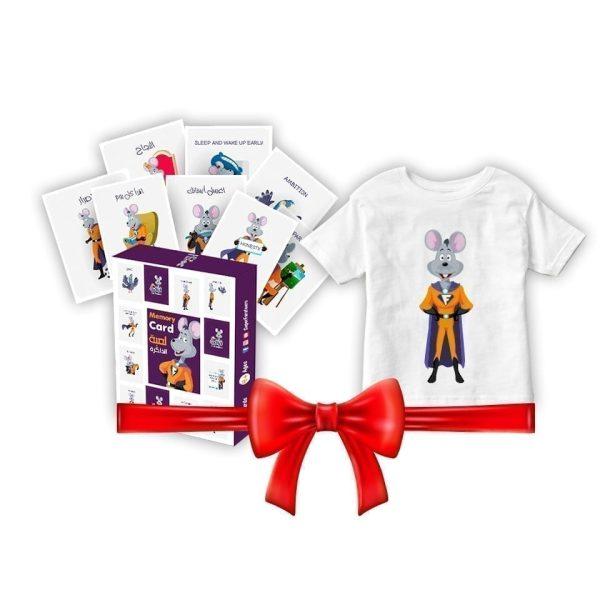 Farfeero Memory Cards Game + T-Shirt Cotton 100% For Kids