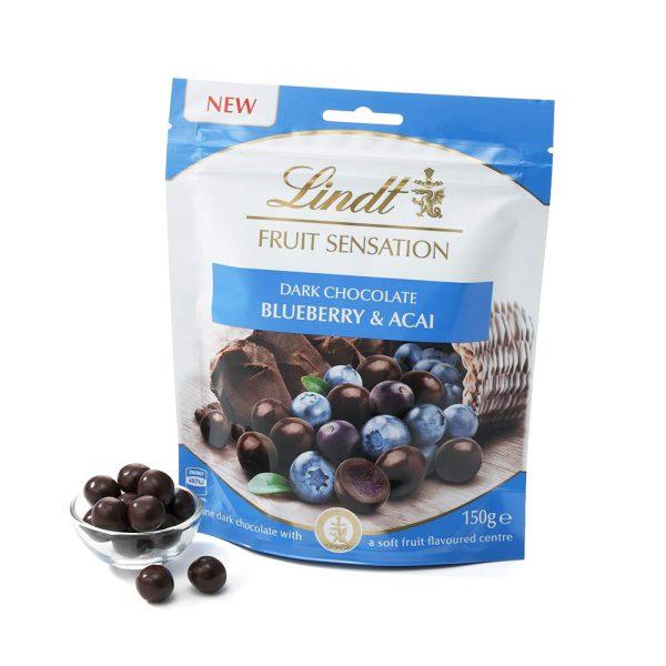 FRUIT SENSATION Blueberry & Acai LINDT 150g
