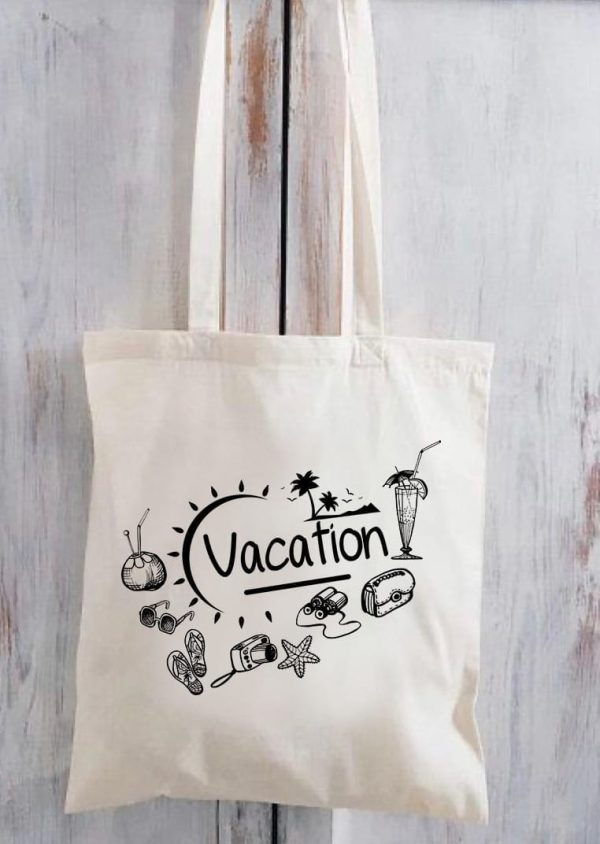 Beach Bag Shoulder Canvas For Summer & Vacations