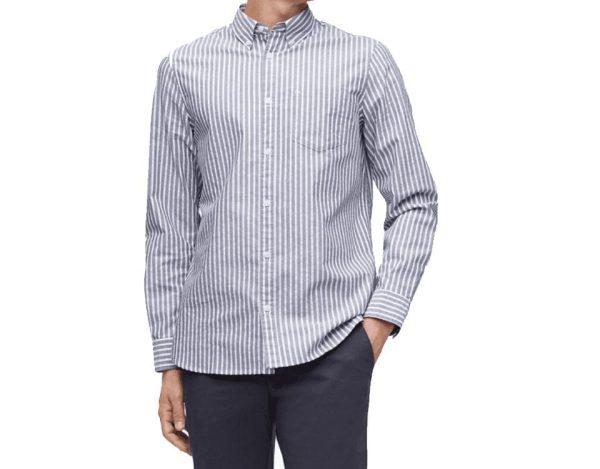 Calvin Klein Long Sleeve Striped Shirts for Men