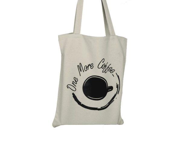Canvas Shoulder Bag100% Cotton Printing - Beige & Black