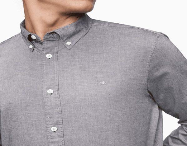 Men's Long Sleeves Shirt From Calvin Klein - Grey