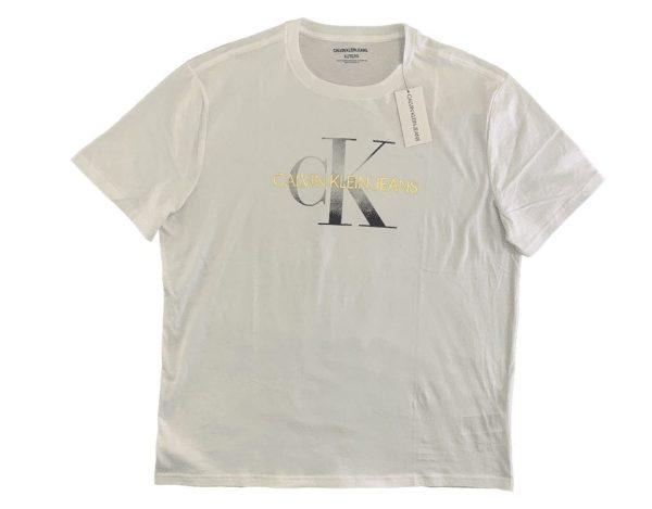 Men's Round T-Shirt Silver Sign From Calvin klein