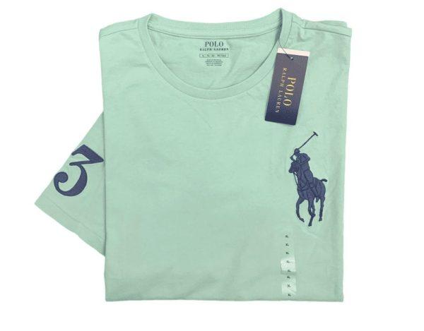 Polo Ralph Lauren Pony Logo Crew Neck T-Shirt For Men - Mint   Champions store