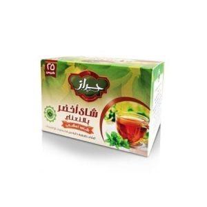 باكت شاي اخضر بالنعناع حراز 25 ظرف