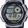 Casio AE-1000W-1A Digital Quartz Resin Sport Watch for Men - Blue