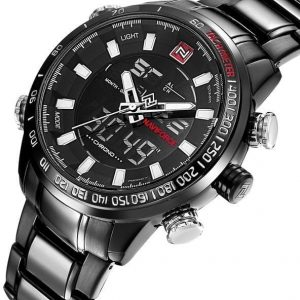 Naviforce NF9093 Quartz Analog Watch Luxury Sport for Men - Black - High Copy
