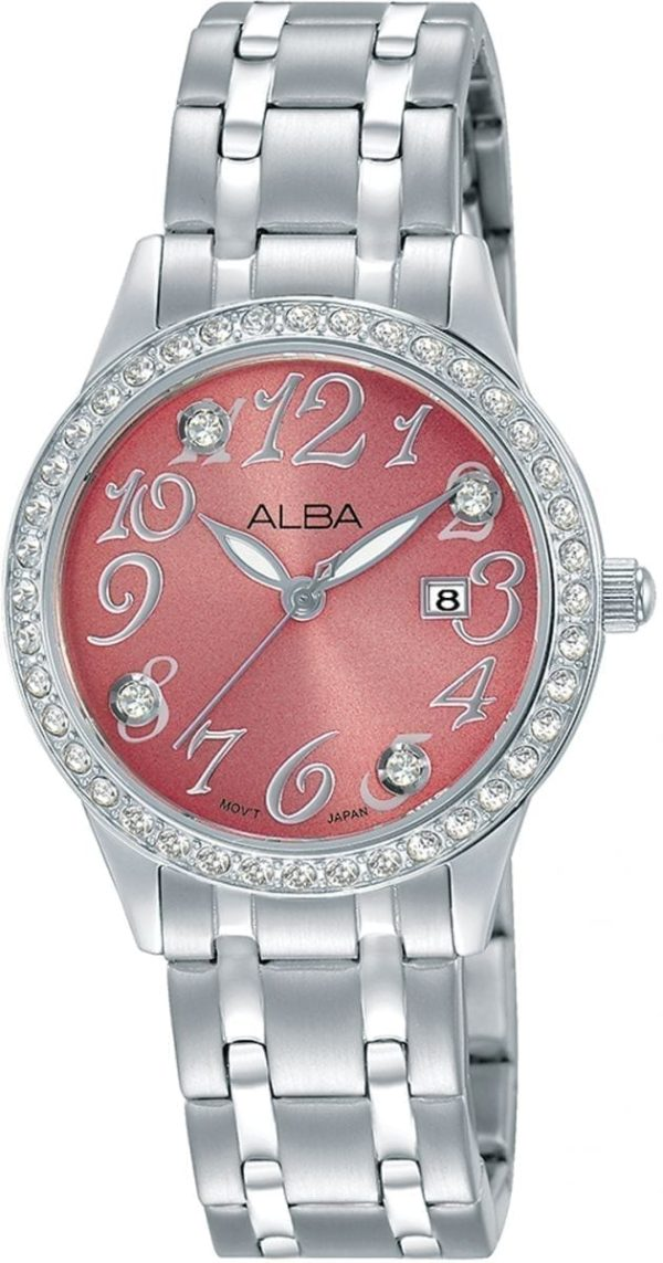 Alba Stainless Steel Casual Wrist Watch For Women - Model AH7P26X - High Copy