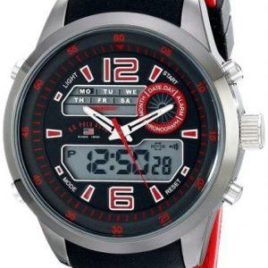 U.S. Polo Assn. Sports Wrist Watch For Men US9507 Analog Digital - High Copy