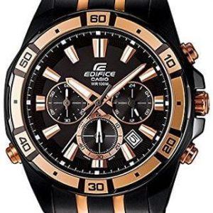 Casio Casual Wrist Watch EFR-534BKG-1AV Edifice Series Black-Rose Gold Stainless Steel Stap - High Copy