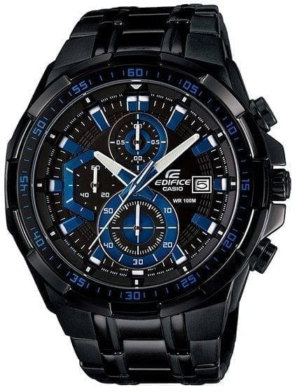 Casio Edifice Casual Wrist Watch For Men Analog Stainless Steel Band - EFR-539BK-1AVUDF - High Copy