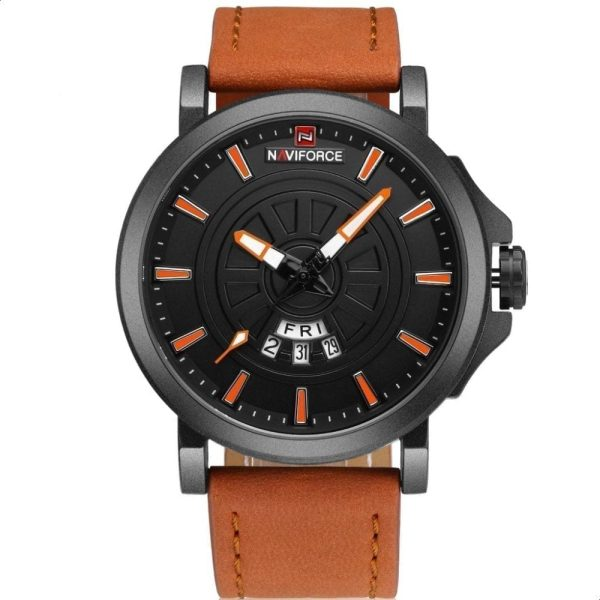 Naviforce NF9125 For Men Casual Wrist Watch Luxury Leather Strap
