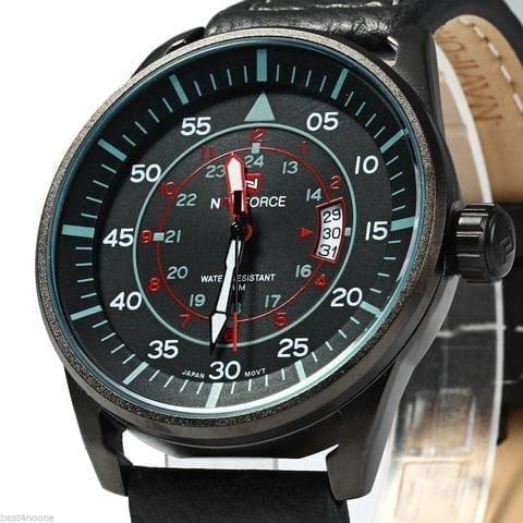 Naviforce 9044 B-B-R Analog  Wrist Watch For Men / High Copy