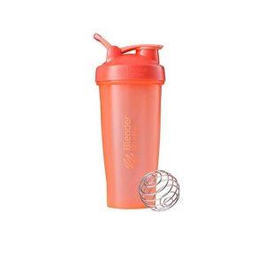 Protein Shaker Blender Bottle Sport Mixer- Orange