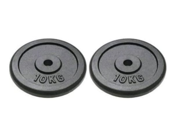 Dumbbell Plates Set Weight Set Gym Lifting Exercise 10 KG – 2 Pieces