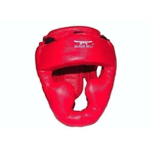 خوذة ملاكمة - واقي رأس ملاكمة من بلاك بلت - أحمر