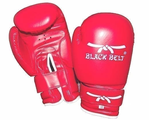 Boxing Gloves From Black Belt - Red