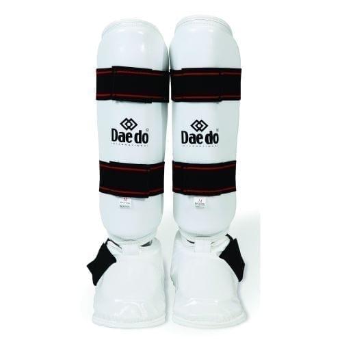 واقي ساق تايكوندو ووش قدم ماركة دايدو - أبيض