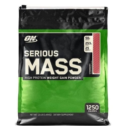 Optimum Nutrition Serious Mass Weight Gainer Powers Muscle Building - Strawberry - 5.5KG
