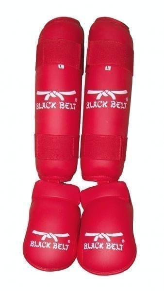 Shin Guard & Instep by Black Belt – Red