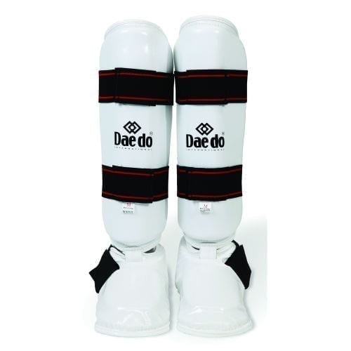 Shin and Instep Guard Martial Arts - White - By Black Belt