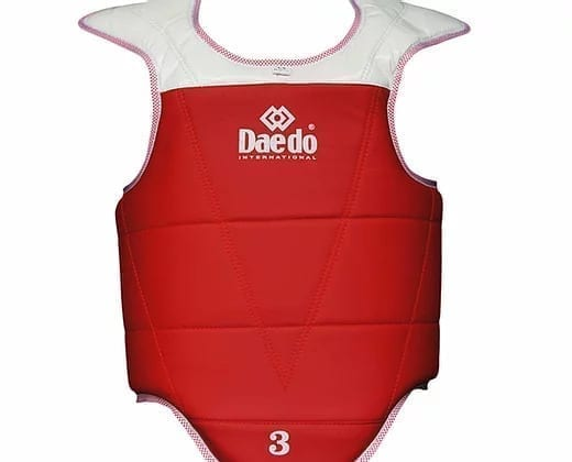 Taekwondo Chest Protector Reversible From Daedo - Red