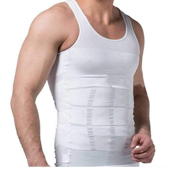 Slim N Lift Slimming T-Shirt For Men - White