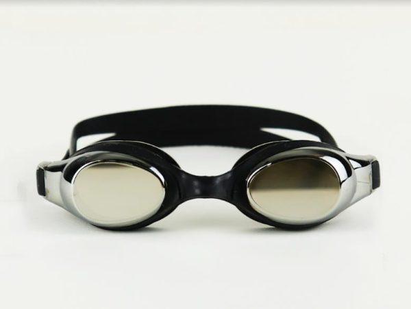 Unisex Mirrored Swimming Goggles - Black