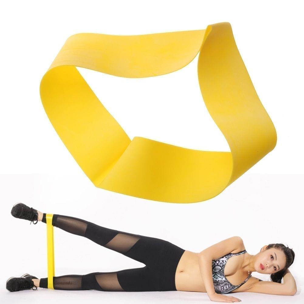 حلقة حزام تمارين المقاومة المطاطي - أصفر